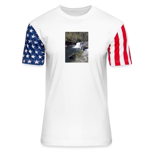 LRC waterfall - Unisex Stars & Stripes T-Shirt