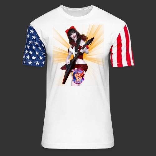 Happily Ever Undead: Crimson Snow Guitarist - Unisex Stars & Stripes T-Shirt