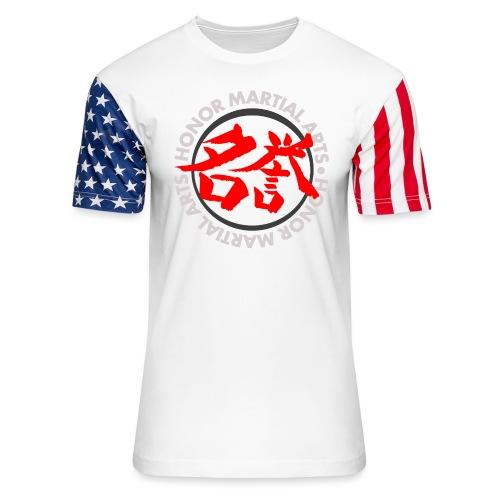Honor Martial Arts Kanji Design Light Shirts - Unisex Stars & Stripes T-Shirt