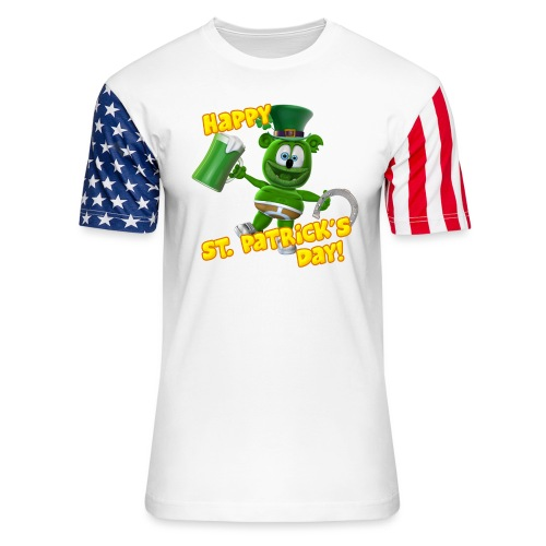 Gummibär (The Gummy Bear) Saint Patrick's Day - Unisex Stars & Stripes T-Shirt