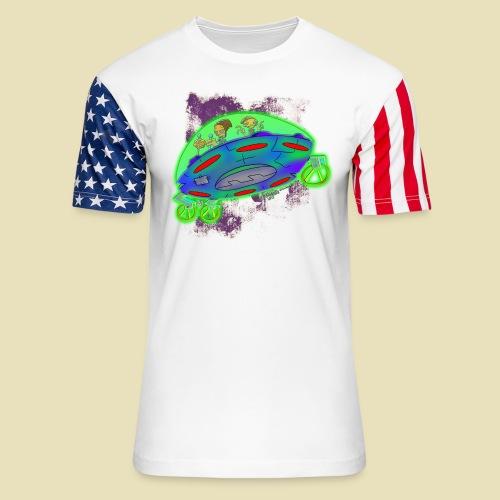 Ongher's UFO Flying Saucer - Unisex Stars & Stripes T-Shirt