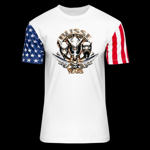 bkg35thannimversarytransparent - Unisex Stars & Stripes T-Shirt