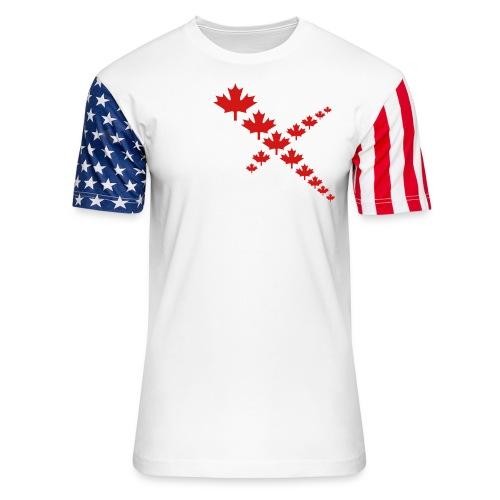 Maple Leafs Cross - Unisex Stars & Stripes T-Shirt