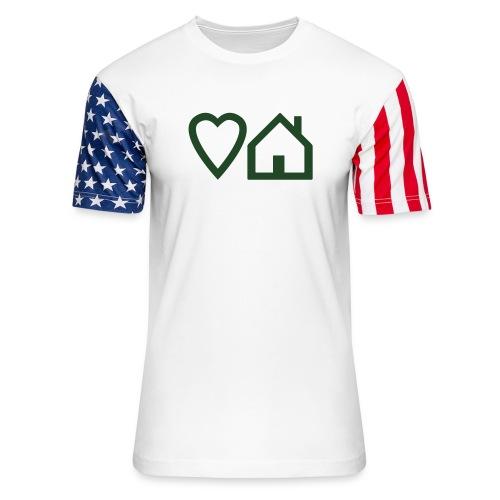 ts-3-love-house-music - Unisex Stars & Stripes T-Shirt