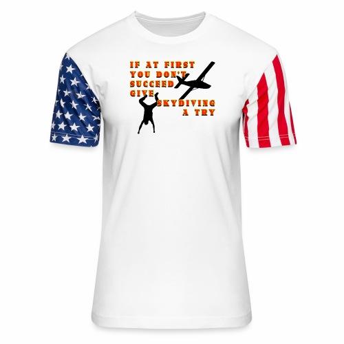 Try Skydiving - Unisex Stars & Stripes T-Shirt