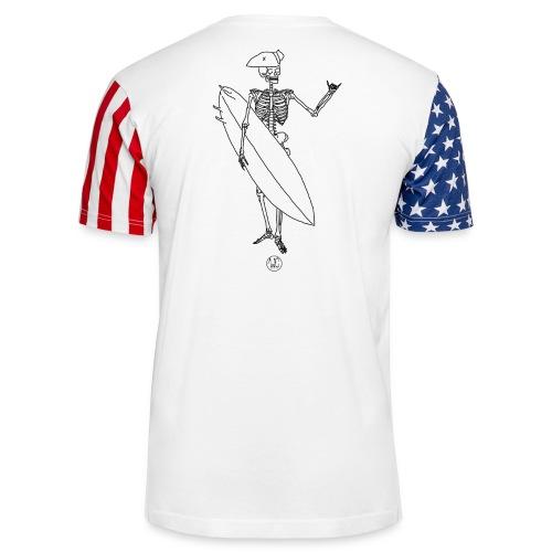 Skelly surfer - Unisex Stars & Stripes T-Shirt