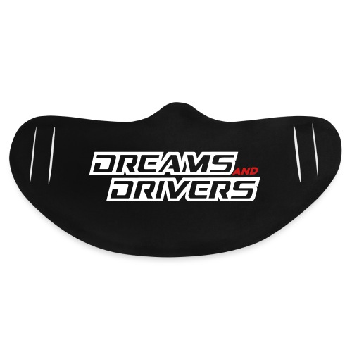 Dreams and Drivers Logo Silver - Basic Lightweight Face Mask