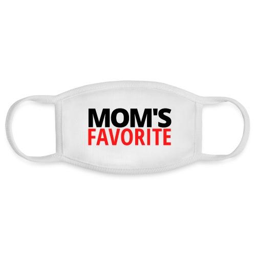 MOM's Favorite (black & red version) - Face Mask