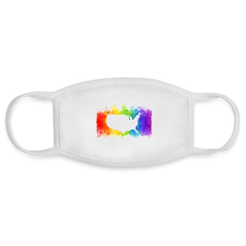 Pride Rainbow Map USA - Face Mask
