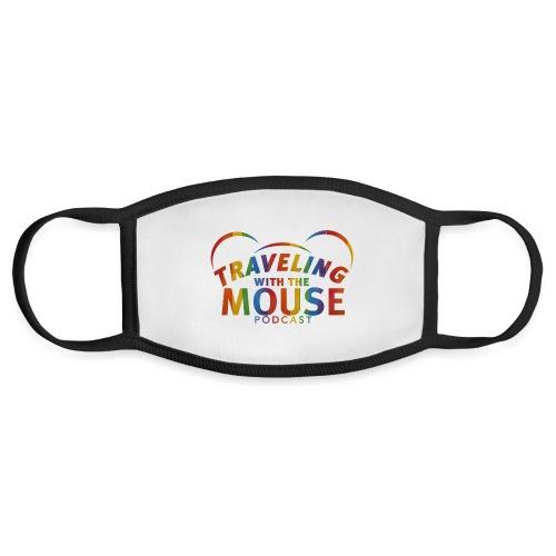 TravelingWithTheMouse logo transparent Rainbow Cr - Face Mask
