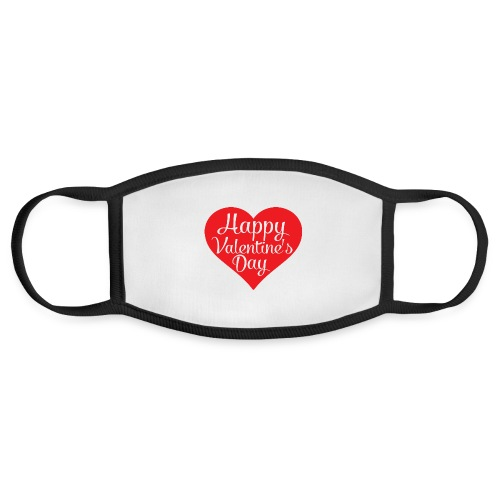 Happy Valentine s Day Heart T shirts and Cute Font - Face Mask