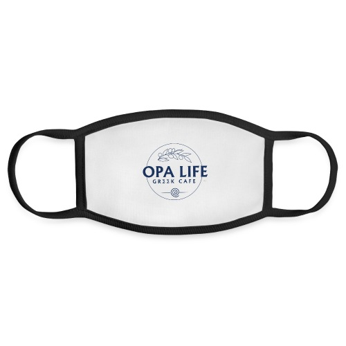 The Blank Opa life Blue outline 2 - Face Mask