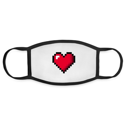 Pixel 8 bit Happy Valentine s Day Heart for Gamers - Face Mask