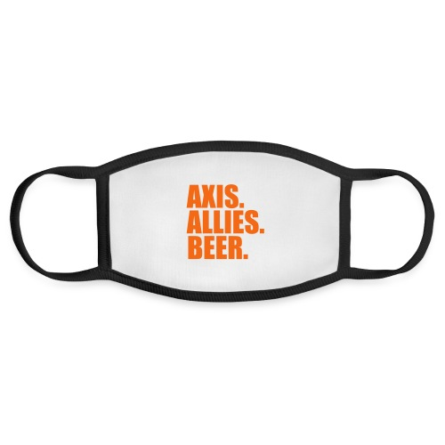 Axis. Allies. Beer. Axis & Allies - Face Mask