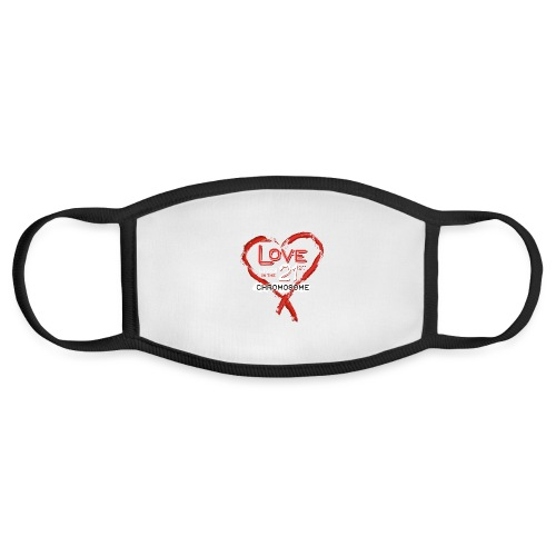 Down Syndrome Love (Red/White) - Face Mask