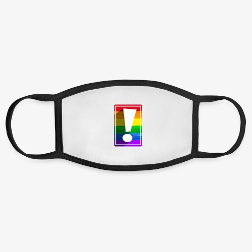 LGBTQ Pride Exclamation Point - Face Mask