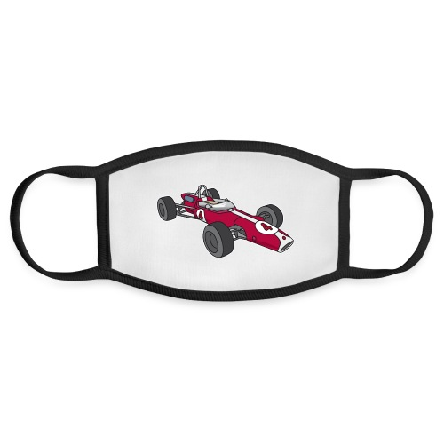 Red racing car, racecar, sportscar - Face Mask