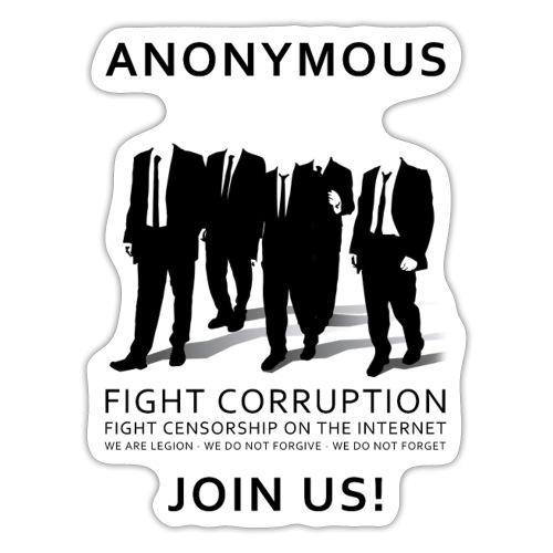 Anonymous 3 - Black - Sticker