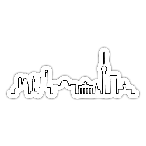 Skyline of Berlin - Sticker