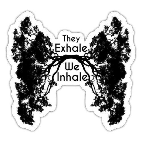 InhaleExhaleBlack - Sticker