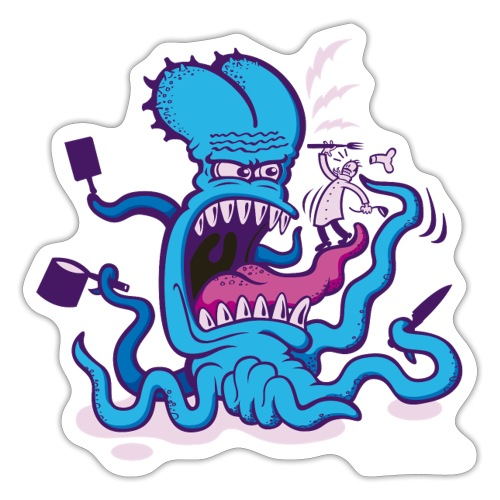 Powder blue Extreme Cooking Long Sleeve Shirts - Sticker