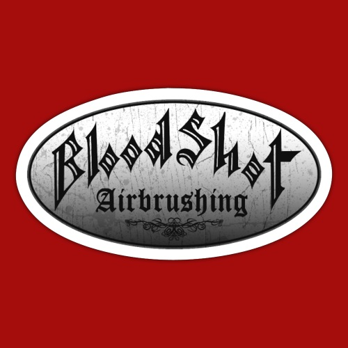 BloodShot Logo Black/White - Sticker