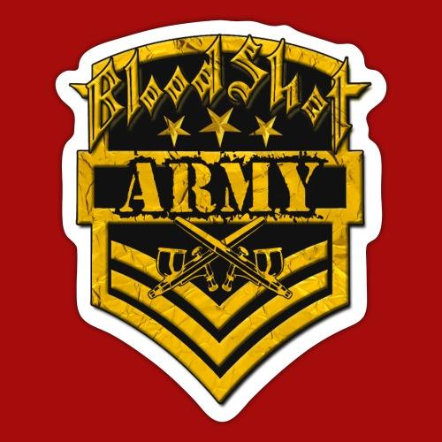 BloodShot ARMYLogo Gold /Black - Sticker