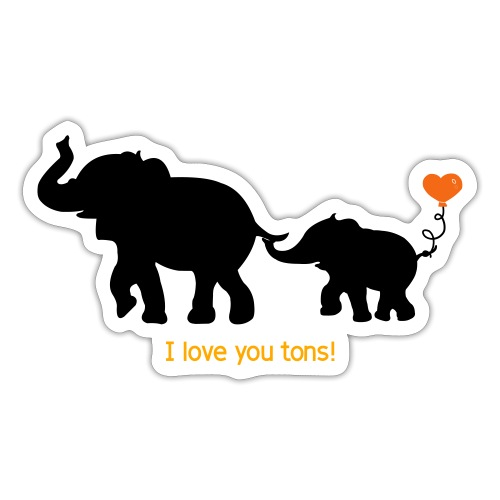I Love You Tons! - Sticker
