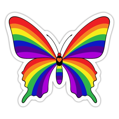 Rainbow Butterfly - Sticker