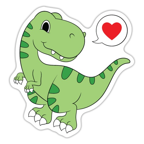 Dinosaur Love - Sticker