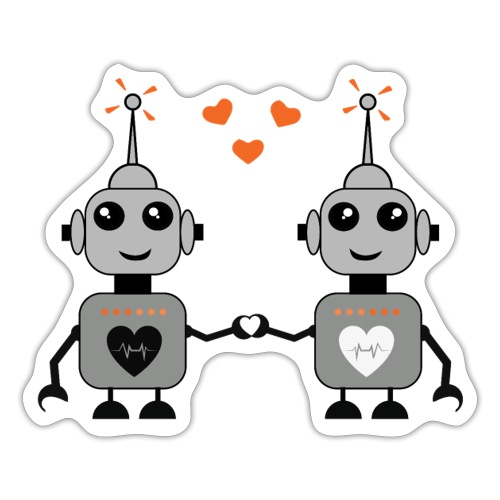 Robot Couple - Sticker