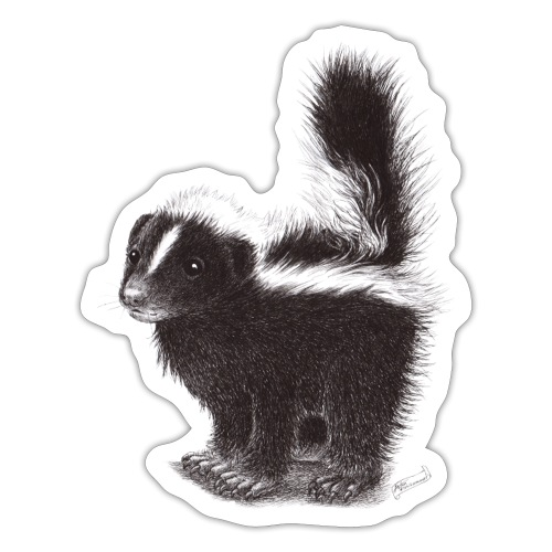 Cool cute funny Skunk - Sticker