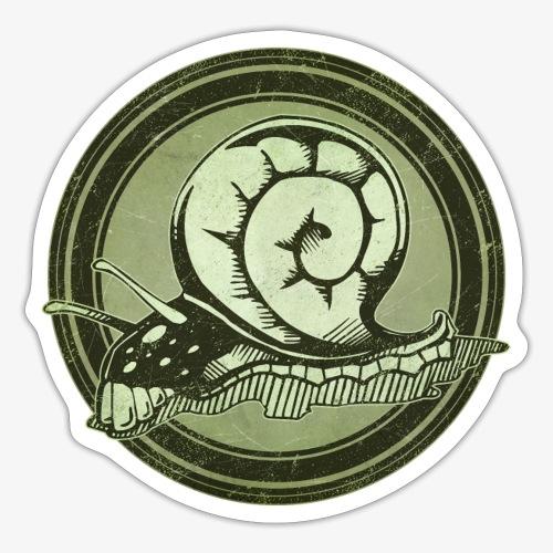 Wild Snail Grunge Animal - Sticker