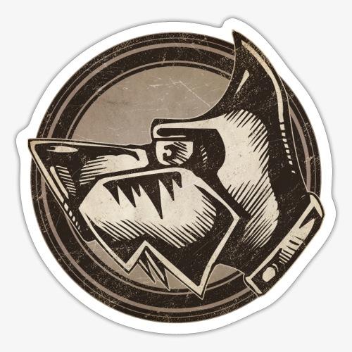 Wild Dog Grunge Animal - Sticker