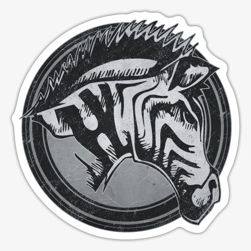 Wild Zebra Grunge Animal - Sticker