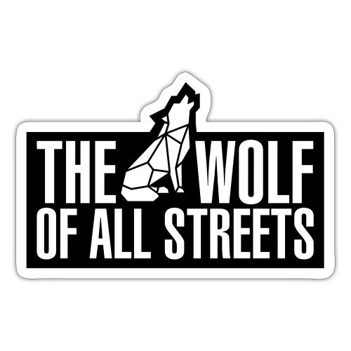 Wolf Of All Streets (1-Color) - Sticker