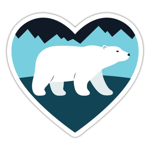 Polar Bear Love - Sticker