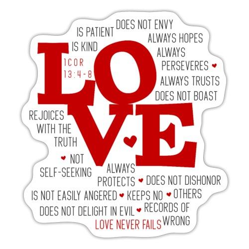Love by 1 Corinthians 13 - Sticker