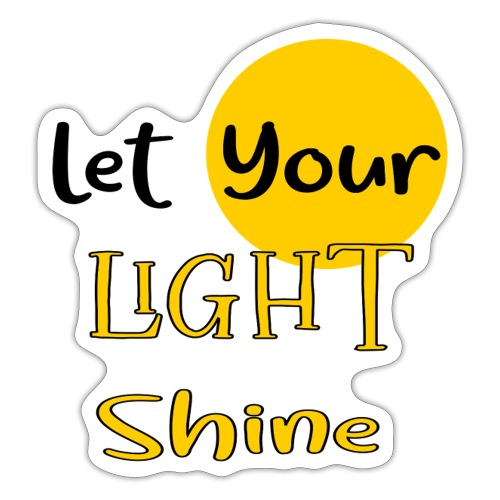 Let Your Light Shine - Christian Stickers