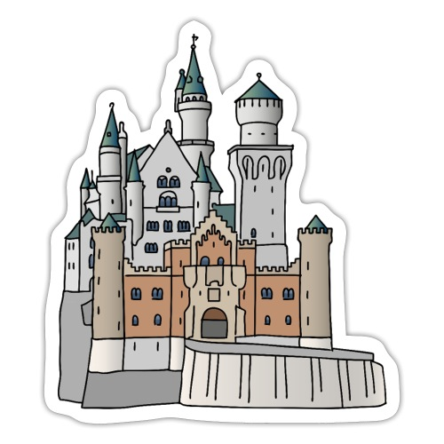 Neuschwanstein Castle, Bavaria - Sticker