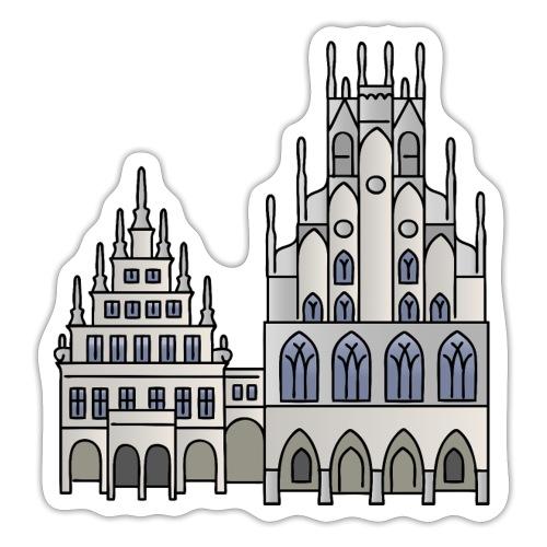 Town Hall Münster, Cityhall, Mayor - Sticker