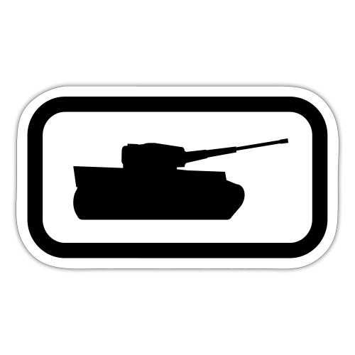 Tank Logo - Multi-Color - Axis & Allies - Sticker