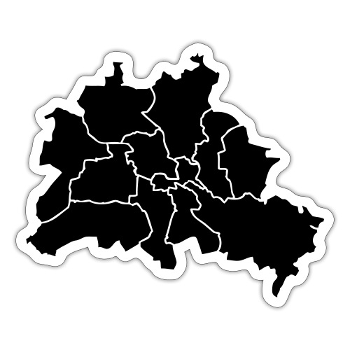 Berlin map, districts - Sticker