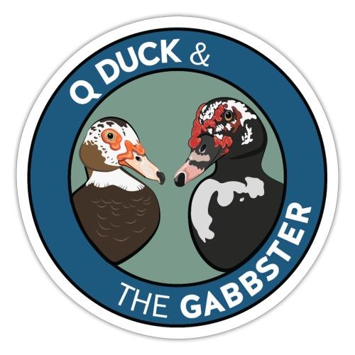 Q Duck & The Gabbster Logo - Sticker