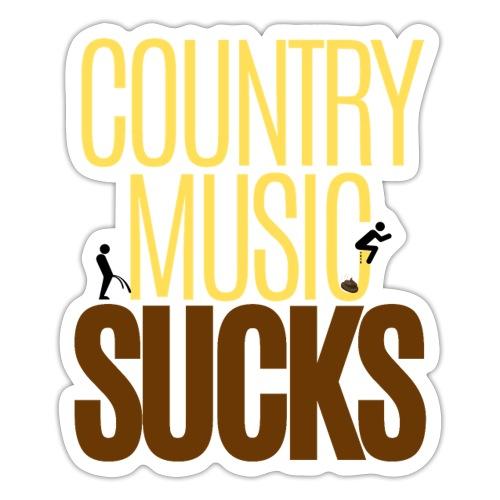 Country Music SUCKS (poop & pee version) - Sticker
