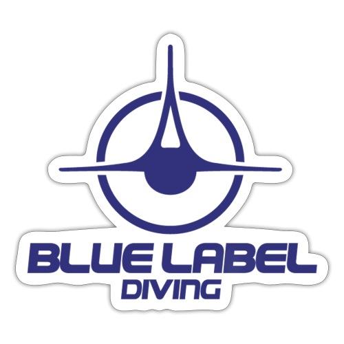 BLD logo with text blue - Sticker