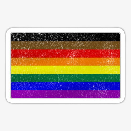 Distressed Philly LGBTQ Gay Pride Flag - Sticker