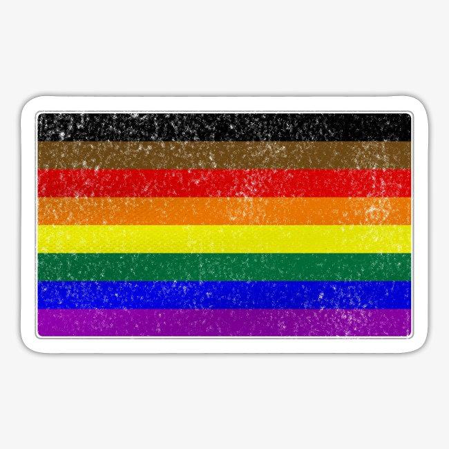 Distressed Philly LGBTQ Gay Pride Flag