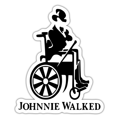 Johnnie Walked, Wheelchair fun, whiskey and roller - Sticker