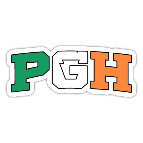 Block PGH (Irish Flag) - Sticker
